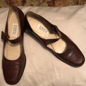 Enzo Angiolini dark brown heeled dress shoes 10